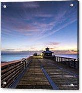 Juno Beach Pier Acrylic Print
