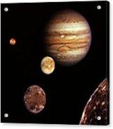 Jupiter And The Moons Acrylic Print