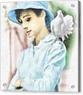 Just Audrey Acrylic Print