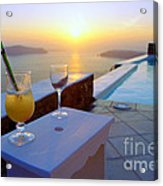 Just Before Sunset In Santorini Acrylic Print