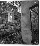 Just Left There Jerome Black And White Acrylic Print