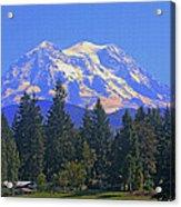 Just Over The Hill Mt. Rainier Acrylic Print