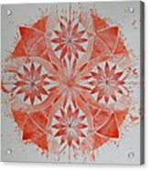 Just Red Mandala Acrylic Print