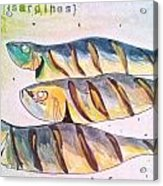 Just Sardines Acrylic Print