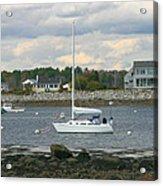 Just Waiting At Rye Harbor Acrylic Print