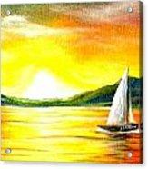 Justa Sailing Acrylic Print by Janet Moss