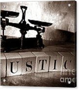 Justice Acrylic Print by Olivier Le Queinec