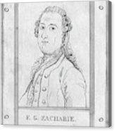 Justus Zachariae (1726-1777) Acrylic Print