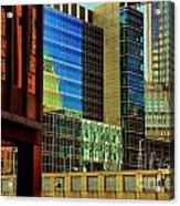 Juxtaposition Of Pittsburgh Buildings Acrylic Print