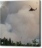 K-max Helicopter On Myrtle Fire Acrylic Print