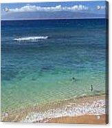 Kaanapali Ocean Aerial Acrylic Print