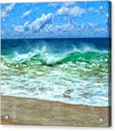Kaanapali Shorebreak Maui Acrylic Print