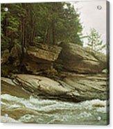 Kaaterskill Falls In Autumn, Catskill Acrylic Print