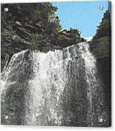 Kaaterskill Falls Ny Il Acrylic Print