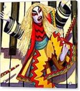 Kabuki Chopsticks 3 Acrylic Print