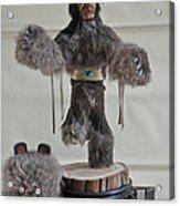 Kachina Doll Bear Head Removed Acrylic Print