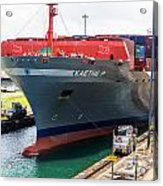Kaethe P Container Ship Panama Canal Acrylic Print