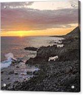 Kaena Point Sea Arch Sunset - Oahu Hawaii Acrylic Print