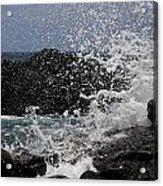 Ka'ena Point Surf Acrylic Print