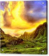 Kahana Valley Sunset Acrylic Print