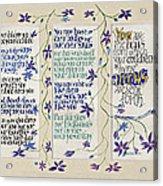 Kahlil Gibran - Children Acrylic Print by Dave Wood