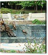 Kahlil Gibran Memorial Garden Acrylic Print