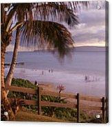 Kai Makani Hoohinuhinu O Kamaole - Kihei Maui Hawaii Acrylic Print by Sharon Mau