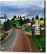 Kaihura Trading Center Acrylic Print