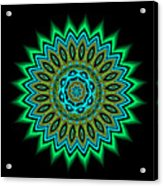 Kaleidoscope 1 Blues And Greens Acrylic Print