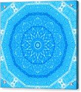 Kaleidoscope Blues Acrylic Print by Paulette Maffucci