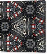 Kaleidoscope In Black Acrylic Print