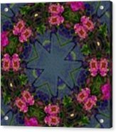 Kaleidoscope Lantana Wreath Acrylic Print by Cathy Lindsey