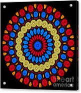 Kaleidoscope Of Colorful Embroidery Acrylic Print