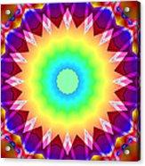 Kaleidoscope Rainbow Acrylic Print