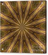 Kaleidoscope With Gold Acrylic Print