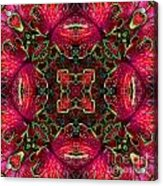 Kaleidscope Made From Image Of Coleus Plant Acrylic Print