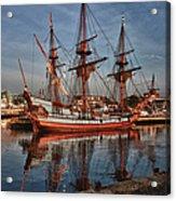 Kalmar Nyckel At Anchor In Salem Ma Acrylic Print