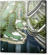 Kalpana One Golf Course Acrylic Print