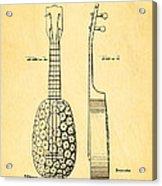 Kamaka Ukulele Patent Art 1928 Acrylic Print