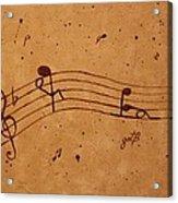 Kamasutra Abstract Music 2 Coffee Painting Acrylic Print
