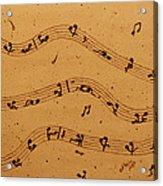 Kamasutra Music Coffee Painting Acrylic Print