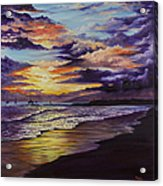 Kamehameha Iki Park Sunset Acrylic Print
