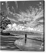 Kanahna Beach Maui Hawaii Panoramic Acrylic Print