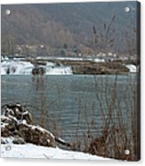 Kanawha Falls - Winter Acrylic Print