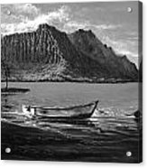 Kaneohe Bay Early Morn - Study Acrylic Print by Joseph   Ruff