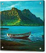 Kaneohe Bay Early Morn 1 Acrylic Print by Joseph   Ruff