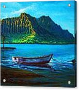 Kaneohe Bay Early Morn Acrylic Print by Joseph   Ruff