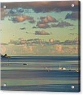 Kaneohe Bay Panorama Mural 3 Of 5 Acrylic Print