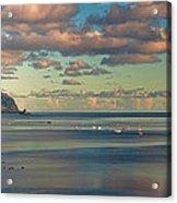 Kaneohe Bay Panorama Mural Acrylic Print