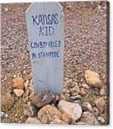 Kansa Kid Killed In A Stampede Acrylic Print